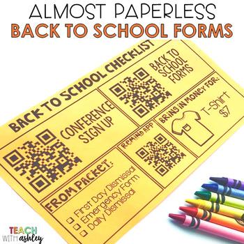 Back to School: Paperless Editable Checklist