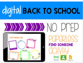 Back to School Paperless Find Someone Activity