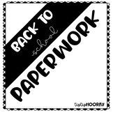 Back to School Paperwork and Editable Welcome Letter