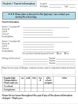 Back to School Parent Communication
