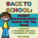 Back to School: Parent Communication Forms