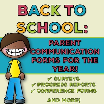 Back to School: Parent Communication Forms