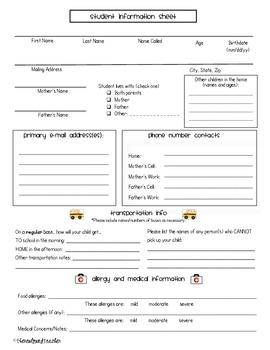 Back to School Parent Communication Pack