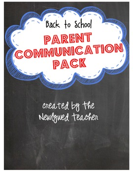 Back to School Parent Communication Pack