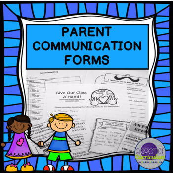Parent Communication Package for Back to School
