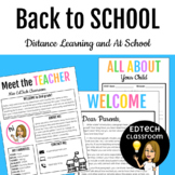 Back to School Parent and Family Welcome Letters | Distance Learning