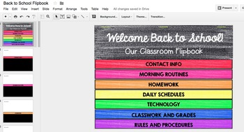 Beginning of the Year Activitivites Parent Flipbook, Editable Google Classroom™