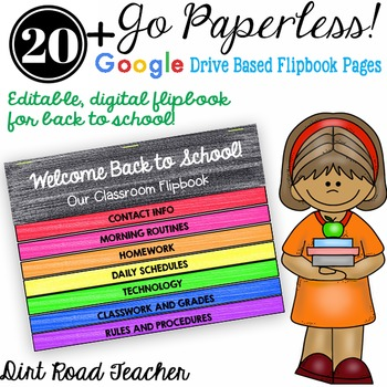 Back to School Parent Flipbook, Editable Paperless and Pap