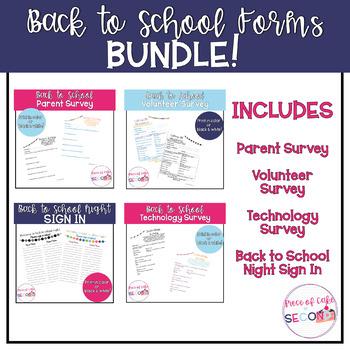 Back to School Parent Forms BUNDLE