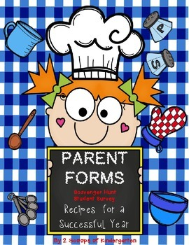 Back to School Parent Forms (Editable) Recipe for Success theme
