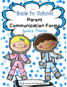 Back to School Parent Forms (Editable) Space Theme