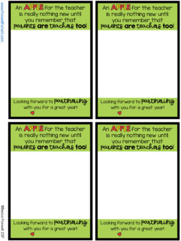Back to School Parent Gift Tag FREEBIE