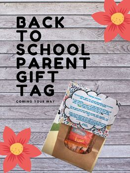 Back to School Parent Gift Tag (Poem)