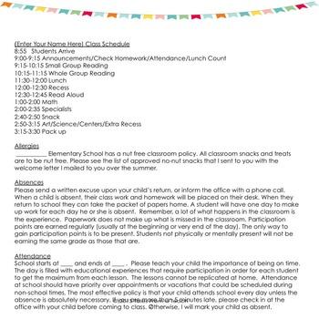 Parent Handbook: Classroom Policies from A-Z