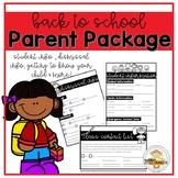 Back to School Parent Handouts