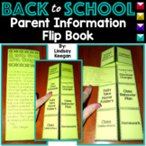 Back to School Parent Information Flip Book - EDITABLE