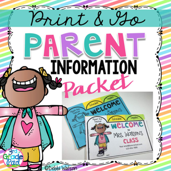 Back to School Parent Information Flip Book