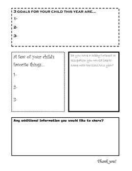 Back to School - Parent Information Survey