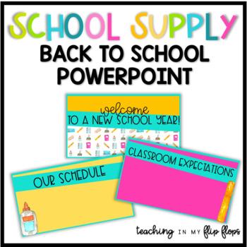 Back to School Parent Night Editable PowerPoint: School Themed