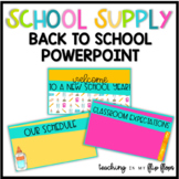 Back to School Parent Night Editable PowerPoint: School Themed