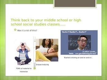 Back-to-School Parent Night PPT - Middle School Social Studies