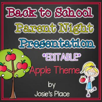 Back to School Parent Night Presentation Apple Theme
