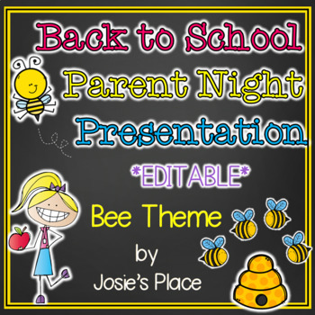 Back to School Parent Night Presentation Bee Theme