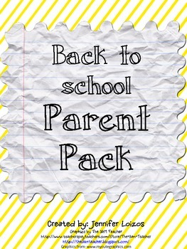 Back to School Parent Pack