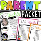 Back to School Parent Packet | Distance Learning Meet the