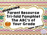 Back to School Parent Pamphlet