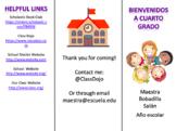 Back to School Parent Pamphlet (Editable)
