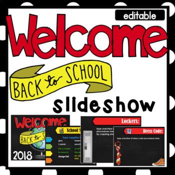 back to school/open house- powerpoint template- editabletxteach22, Modern powerpoint