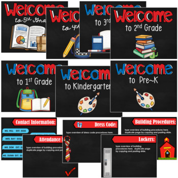 Back to School/Open House- Powerpoint Template- Editable