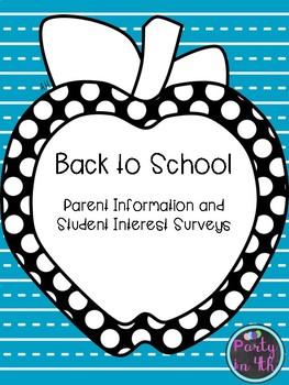 Back to School Parent & Student Surveys