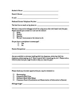 Back to School Parent Survey