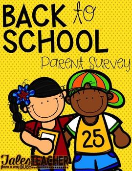 Back to School {Parent Survey}