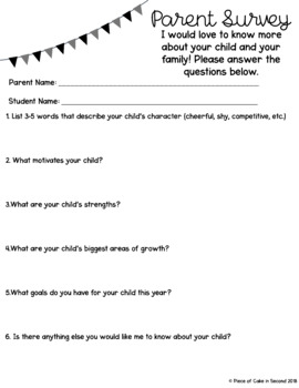 Back to School Parent Survey