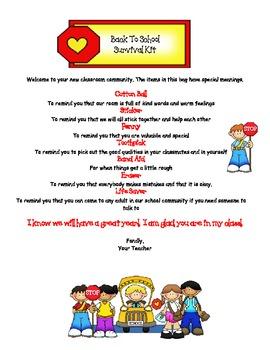 Back to School & Parent Survival Kits