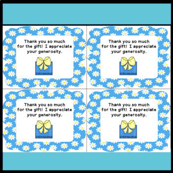 Back to School Parent Thank You Notes (Year Long Usage!)