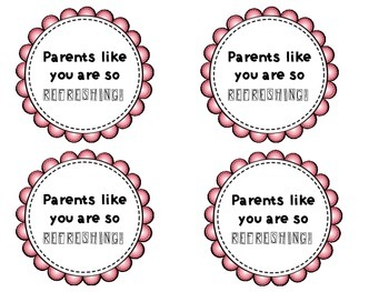 Back to School Parent Treat Tags