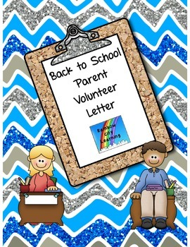 Back to School Parent Volunteer Letter