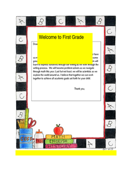 Back to School Parent Welcome Letter