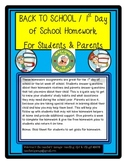 Back to School Parent and Student Homework Pack