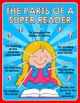 Back to School - Parts of a Reader - Superhero themed posters - FREE