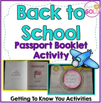 Back to School Passport Booklet Activity + Camera Craftivity