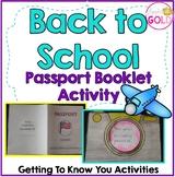 Back to School Passport Booklet Activity + Camera Craftivity