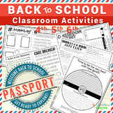 Back to School Passport - EDITABLE PDF