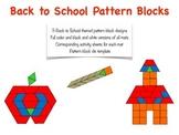 Back to School Pattern Blocks