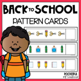 Back to School Pattern Cards {AB, ABC, ABB, AAB}