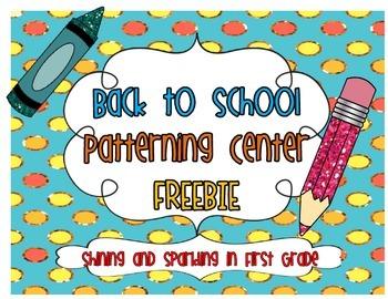 Back to School Patterning FREEBIE
